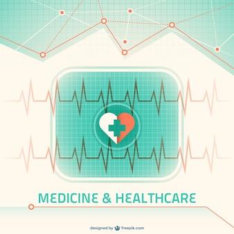 Green medicine background