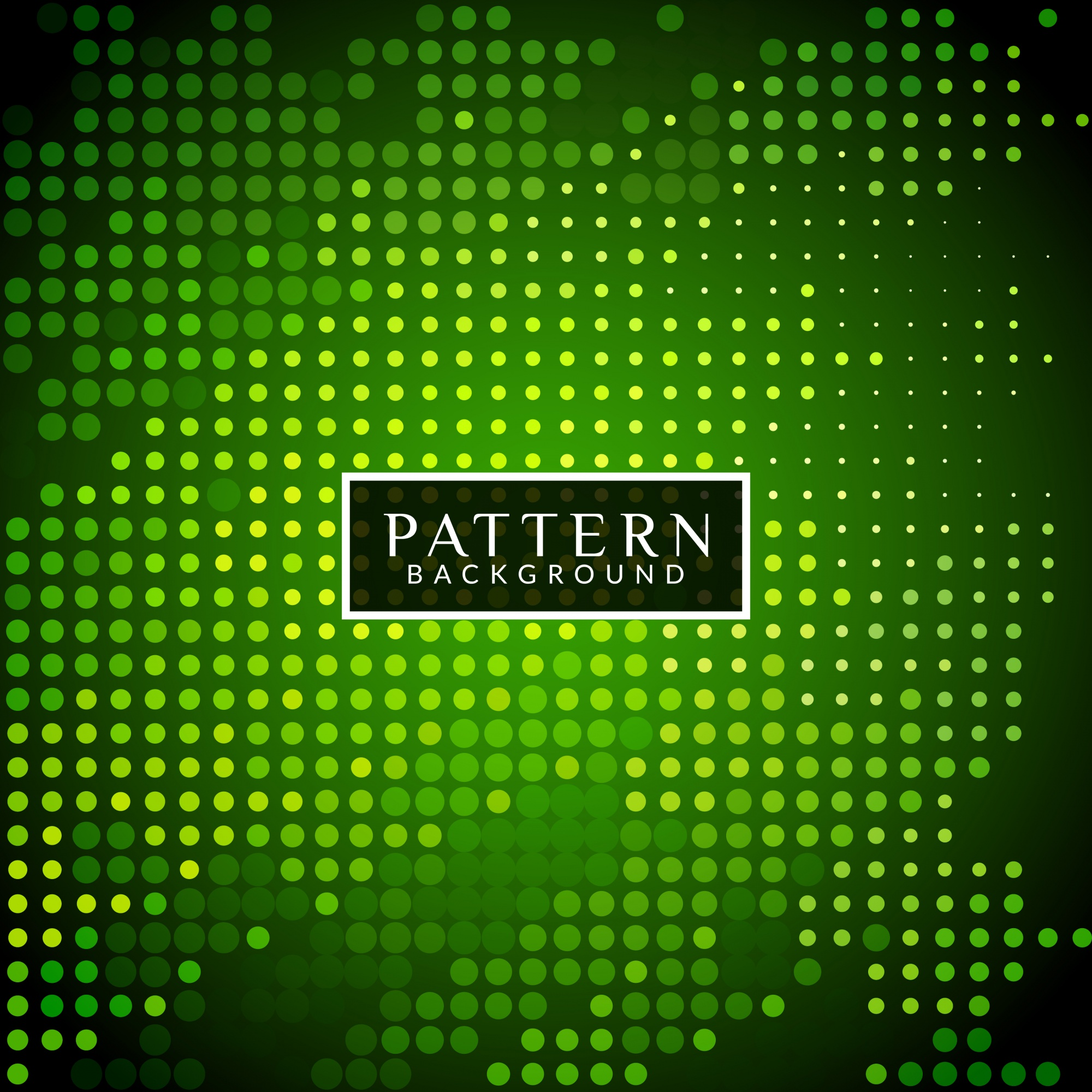 Green modern background with halftone dots