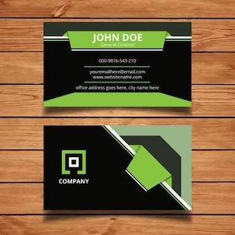 Green modern business card