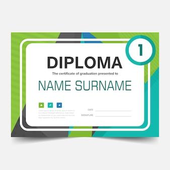Green modern diploma illustration