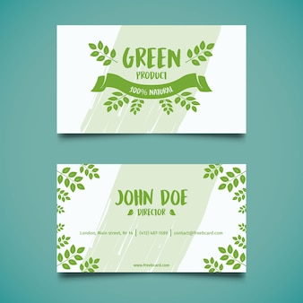 Green natural business card