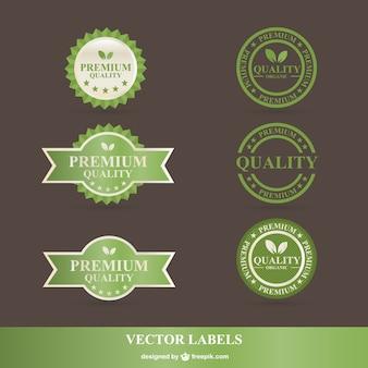Green organic labels