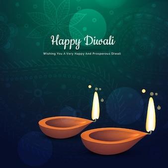 Green ornamental background of diwali
