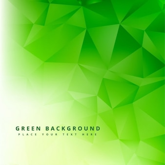 Green polygonal abstract background