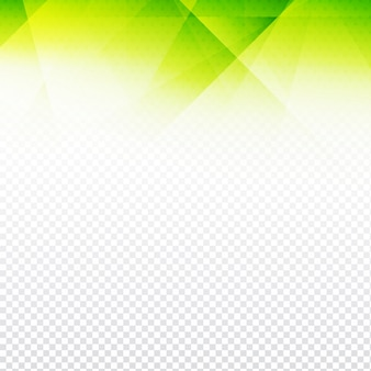 Green polygonal background with transparencies