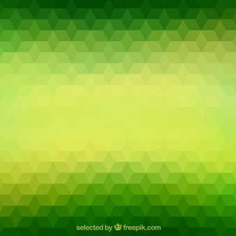 Green polygons background