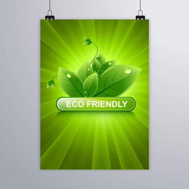 Green poster for ecological themes