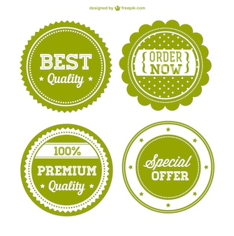 Green premium sale badges