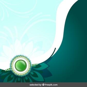Green rasksha bandsha background