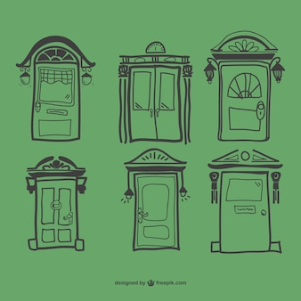 Green retro doors