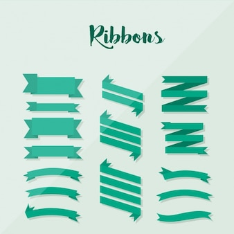 Green ribbons collection
