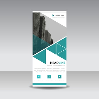 Green roll up business template