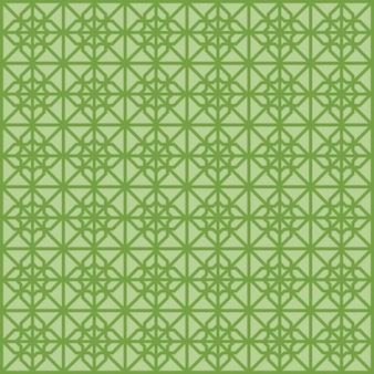 Green Seamless Islamic pattern