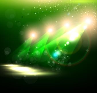 Green show scanner creativeness background