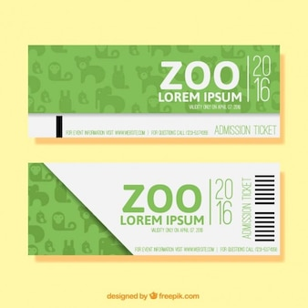 Green simple zoo banners