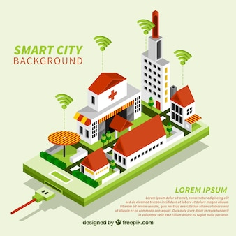 Green smart city background