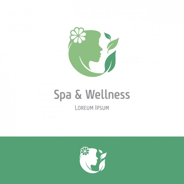 Green spa and wellness background