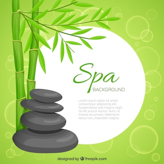 Green spa template background