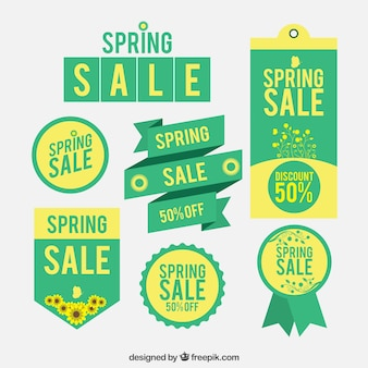 Green Spring Sale Label Collection