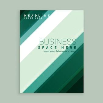 Green stripes brochure template