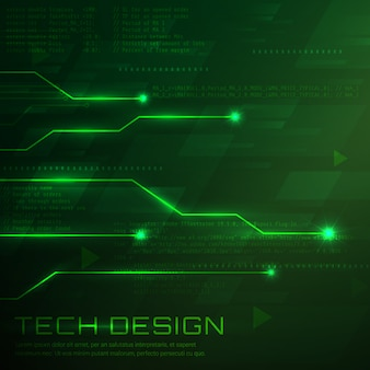 Green technological background design