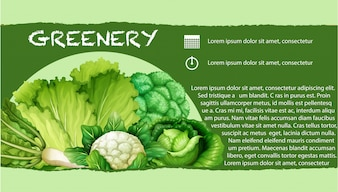 Green vegetables with text