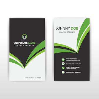 Green vertical business card