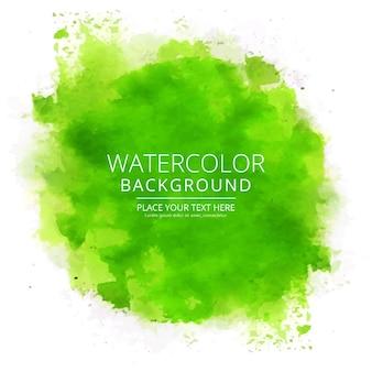モダンな緑の水彩の背景
