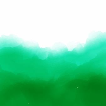 Green watercolor background with space