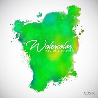 緑の水彩の背景
