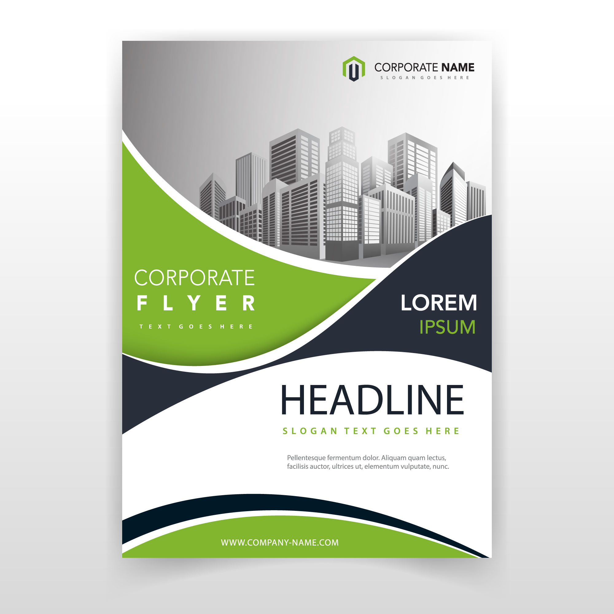 Green wave cover annual report template
