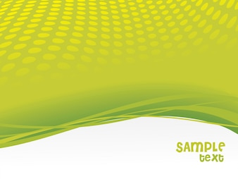 Green wave vector background