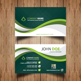 Green waves business card