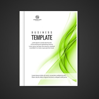 Green wavy business booklet
