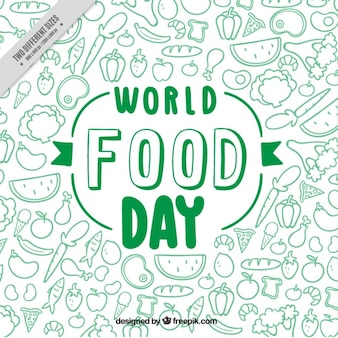 Green world food day background