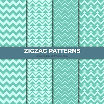Green zig-zag patterns