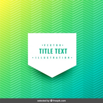 Green zigzag background with label