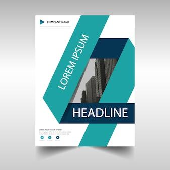 Greenish blue geometric brochure