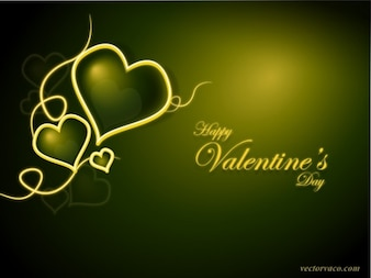 Greeny Valentines Day Background