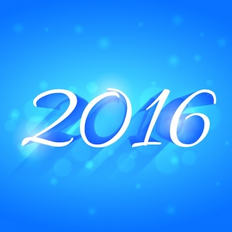 Greeting 2016 with blue background
