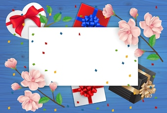 Greeting Card and Empty Paper Sheet
