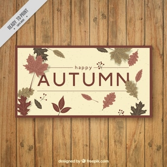 Greeting card for fall