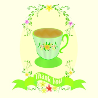 Greeting card with cup