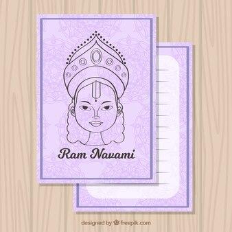 ラムnavamiの描画とグリーティングカード