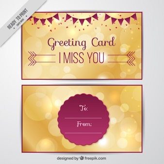 Greeting card with golden highlights
