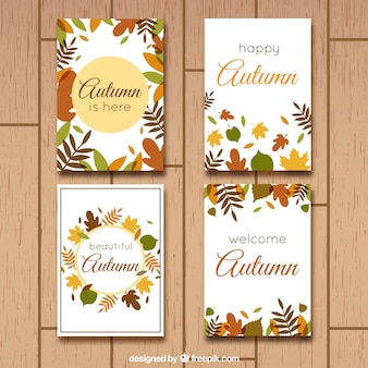 Greeting cards for an happy autumn