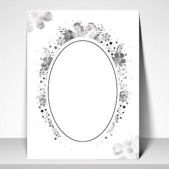 Greeting or Invitation Card with floral elements.