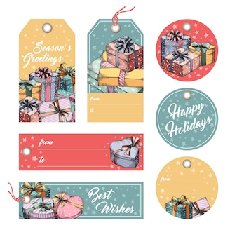 Greeting tags and labels
