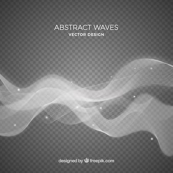 グレーの抽象的な波