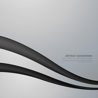 Элегантный серый фон с волнистой черной линией